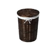 Плетеная корзина для белья с крышкой WasserKRAFT (Еlbe WB-740-M)