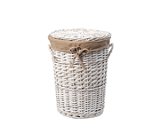 Плетеная корзина для белья с крышкой WasserKRAFT (Aller WB-106-S)