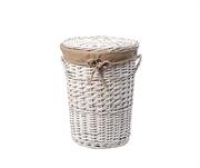 Плетеная корзина для белья с крышкой WasserKRAFT (Aller WB-106-L)