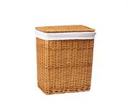 Плетеная корзина для белья с крышкой WasserKRAFT (Ammer WB-370-L)