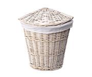Плетеная корзина для белья с крышкой WasserKRAFT (Vils WB-560-L)