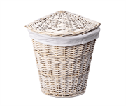 Плетеная корзина для белья с крышкой WasserKRAFT (Vils WB-560-M)