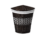 Плетеная корзина для белья с крышкой WasserKRAFT (Salm WB-270-L)