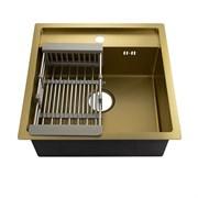 Мойка врезная 50х50см толщина 3.0х0.8мм с сифоном + разжвижная корзина (Z)