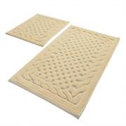 Комплект ковриков для ванной 2 шт (60*100 и 50*60) BAMBI бежевый