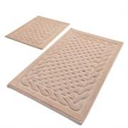Комплект ковриков для ванной 2 шт (60*100 и 50*60) BAMBI пудровый