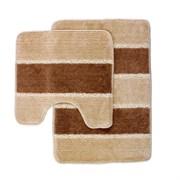 Комплект ковриков для ванной (2 предмета) 45х70см и 45х45см SERA бежевый