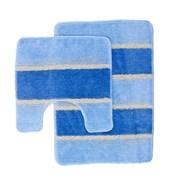 Комплект ковриков для ванной (2 предмета) 45х70см и 45х45см SERA голубой