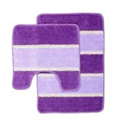 Комплект ковриков для ванной (2 предмета) 45х70см и 45х45см SERA фиолетовый