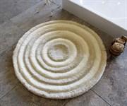 Коврик для ванной круглый D-90 см (экрю)
