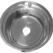 Мойка врезная круглая 49 см толщина 0.8 мм