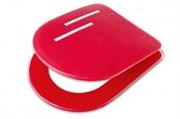 Сиденье для унитаза с крышкой ROMA (GL-тип) красный