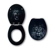 Сиденье для унитаза WIRQUIN с крышкой плавное закрывание (SOFT CLOSE) Лев