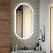 Зеркало овальное 55х100 см сенсорное с внутренней LED подсветкой