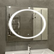 Зеркало 100х80 см сенсорное с внутренней LED подсветкой